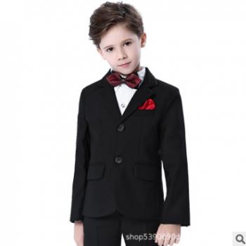 儿童西装套装男童花童礼服钢琴演出服中大童韩版小孩西服外套春款