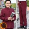 直销冬季唐装男棉衣中老年加厚棉服中国风加绒中式棉袄棉裤两件套