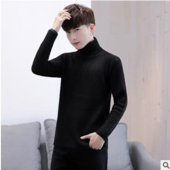 毛线衣男士高领毛衣男韩版宽松潮流外套个性毛衫男生帅气冬季代理