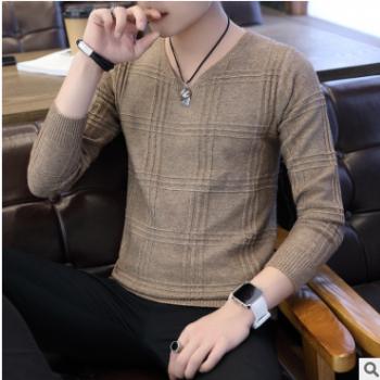 冬季毛衣男韩版潮流修身型个性针织衫圆领学生线衣帅气百搭毛衫潮