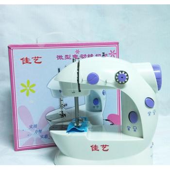 带灯佳艺缝纫机 家用多功能小缝纫机 带切线双速双线电动缝纫机