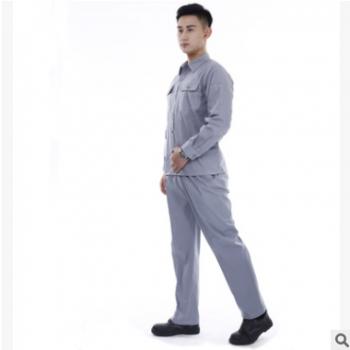 60%棉吸汗夏季男衬衫工作服套装 可订做 绣花