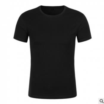 苏州全棉莱卡棉圆领T恤企业文化衫广告衫工作服职业装定制