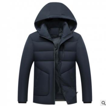 批发男装羽绒棉服中老年2019新短款保暖冬外套加厚时尚立领上衣