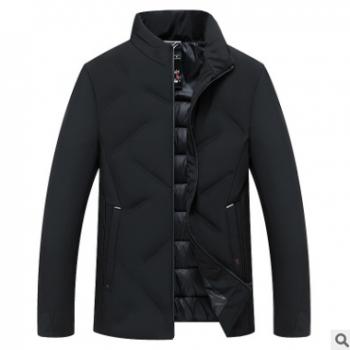 中年人男士棉衣爸爸装短款立领休闲棉服冬装保暖棉袄冬季新款外套
