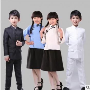 儿童民国服女童五四青年装民国学生装民国风儿童中山装合唱演出服