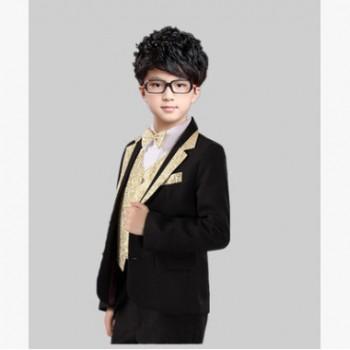 新款男童礼服小西装 花童礼服儿童演出西服校园主持人钢琴表演服