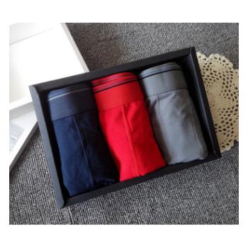 外贸出口男士纯棉内裤平角白色大红大码胖子四角短裤批发一件代发