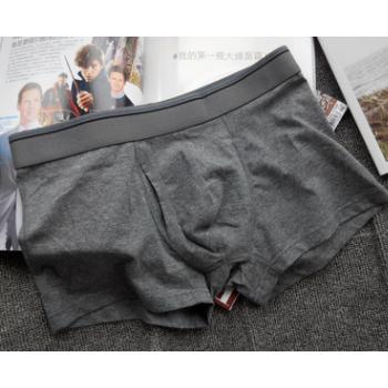 长期货源男外贸士纯棉内裤前开口青年大码胖子平角一件代发微商