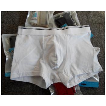爆厂家批发外贸欧码男士纯棉平角内裤白色大码胖全棉质量一件代发