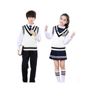 幼儿园园服秋冬装儿童学院英伦风班服中小学生校服套装朗诵合唱服