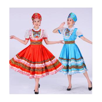 新款俄罗斯演出服欧式宫廷成人女仆礼服公主裙话剧民族舞蹈舞服装
