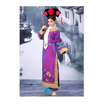 清朝古装还珠格格服装 娘娘服满族旗服女古代宫女嬷嬷宫廷演出服