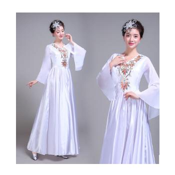 开场舞大摆裙演出服新款民族舞蹈服装女成人伴舞现代舞合唱服长裙