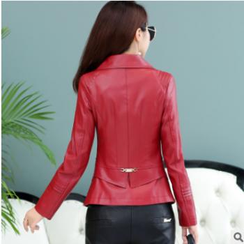 天天特价秋冬欧洲站新款皮衣女大码修身女装夹克短款显瘦皮衣外套