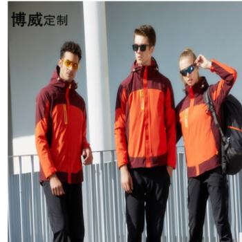 男女冲锋衣两件套上衣厂家一件代发防水防风御寒活里活面登山服