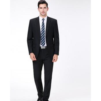 厂家直销2019新款高品质羊毛男士西服套装 商务精品工作男西装