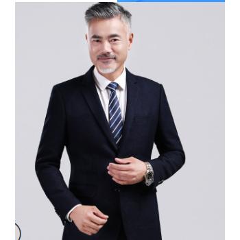 西装外套男休闲男士西服上衣单件2019中年小西装1802合并