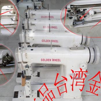 二手CS-810高头缝纫机 鞋帽假发加工设备/台湾金轮牌 立柱车针车