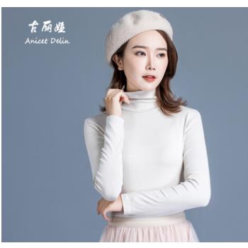 2019新款韩版高弹打底衫高领毛衣修身针织衫时尚秋冬打底厂家直销