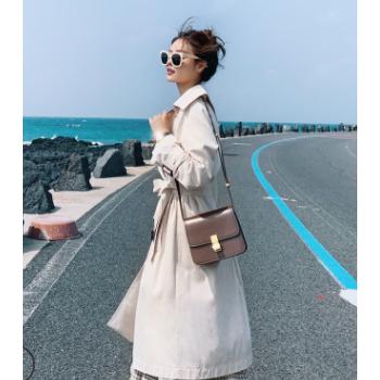 2019早秋新款风衣女中长款韩版显瘦女式外套爆款厂家直销高级定制