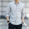 衬衫男士长袖外套春秋季2019新款韩版潮流透气休闲纯棉男式衬衣