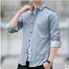 2019春秋季新款衬衫男长袖韩版休闲潮流印花男装帅气衬衣男士外套