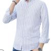 2019男士冬季保暖衬衫长袖加厚加绒外套韩版潮流宽松条纹上衣寸衫