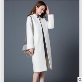 原创呢大衣韩版2018新款时尚气质呢外套实力女装厂家一件代发