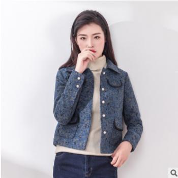 一件代发女装2018秋冬新款小香风短款毛呢外套女韩版呢大衣短上衣