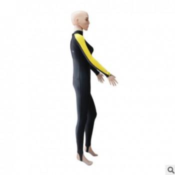 2018莱卡连体户外冲浪潜水衣防晒修身长款浮潜服女士游泳衣订做