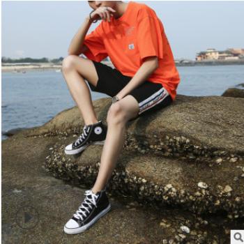 2019夏季男士短裤韩版大裤衩潮流休闲宽松时尚青年五分裤