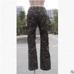 军旅休闲裤多个口袋拼接军绿色军营裤承接服装生产