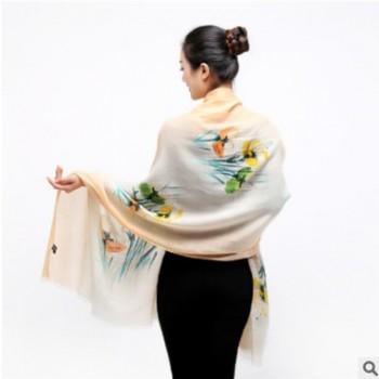 2018秋冬新款纯羊毛女围巾披肩两用优雅现货时尚保暖围脖厂家直销