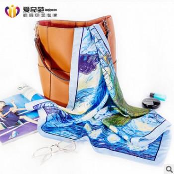 厂家直销2019新款方巾民族风海边沙滩旅游遮阳两用巾来图定制
