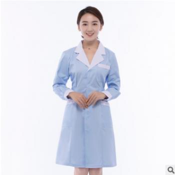 加厚护士服药店服医生服长短袖修身实习演出服工作服白粉蓝药店服