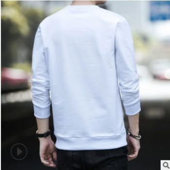 卫衣男2019春秋季新款男式圆领卫衣潮牌休闲日常T恤男装一件代发