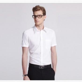 同款男士斜纹短袖衬衫 商务修身婚礼衬衣职业装 BFZD
