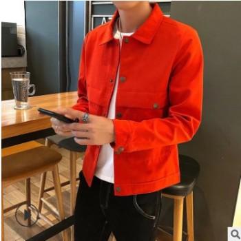 新款男式夹克单衣加绒可选男士青年时尚上衣潮百搭休闲男装外套