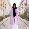双面羊绒大衣女2019秋冬新款羊毛大衣韩版翻领系带中长款毛呢外套