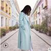 2019秋冬新款羊绒大衣韩版双面呢长款羊毛外套女装定制毛呢大衣女