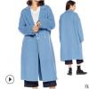 新款19王鸥同款羊毛大衣长款羊绒外套秋冬款休闲毛呢大衣女定制