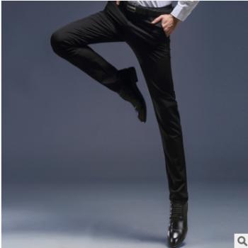 2019款男士西裤修身型青年商务休闲职业西装裤子薄款百搭正装裤