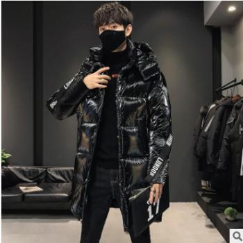 中长款连帽羽绒服男冬季青年韩版休闲80%白鸭绒加厚男士保暖外套