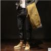 牛仔裤男潮牌修身小脚休闲裤2019秋冬新款男士潮流韩版加绒男裤