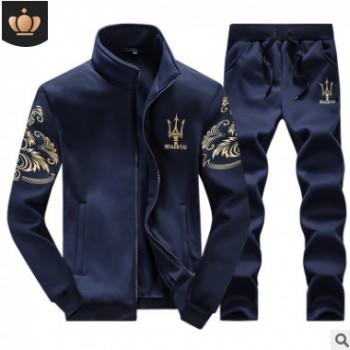 男士运动套装秋季立领休闲卫衣外套棒球服男式运动服男装长裤批发