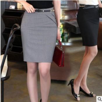 2019夏季新款OL西装裙职业裙一步裙正装工装女半身裙包臀短裙子