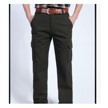 2018新款冬季男士户外加绒保暖休闲裤新款长裤大码多袋裤9123加绒