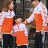 2019男式休闲运动套装长袖长裤情侣亲子外套套装时尚潮流跑步男装