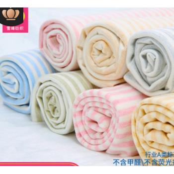 雪峰现货莱卡批发秋冬新款氨纶舒绒棉面料婴幼儿家居服布料可定制